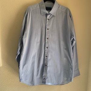 David Donahue blue dress shirt